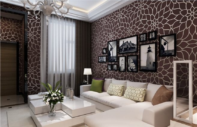 Wall-paper-design-for-living-room